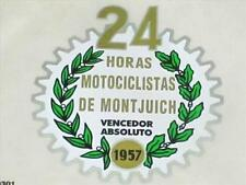 Ducati tank top decal Horas Motorciclistas De montjuich 1957 peel and stick