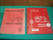 TRACTEUR RENAULT E 30  R 3051 MANUEL REPARATION ATELIER 1959 + ADDITIF RELEVAGE