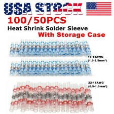 100PCS Solder Sleeve Heat Shrink Wire Butt Splice Connector Waterproof Terminals