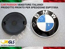 1 logo fregio BMW originale COFANO ANTERIORE 82mm front hood emblem 51148132375