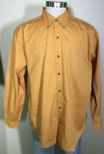 Knightsbridge Long Sleeve Yellow Gold 100% Cotton Button Down Shirt Men's XL NWT
