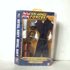 HM ARMED FORCES ROYAL NAVY Fire & Emergency Party outfit equipment set NEW 1:6