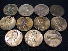 STATI UNITI USA 10 monete da 1 CENT PRESIDENTE ABRAHAM LINCOLN dal 1960 al 1969