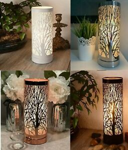 Aroma Lamp Oak Tree Cylinder Electric Touch Wax Melt Oil Burner Light Gift Boxed