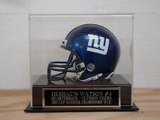 Football Mini Helmet Case With A Deshaun Watson Clemson MVP Engraved Nameplate
