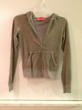 Juicy Couture Zip-Up Velour Jacket Womens Size Petite - Light Green