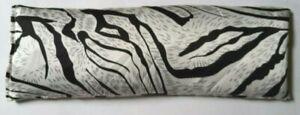 Zebra Print Natural Sleep/Migraine Satin Eye Pillow Lavender Flaxseed Linseed