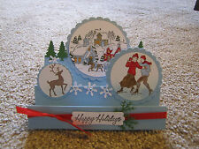 Winter Village Scene Christmas Happy Holiday Handmade step Card Kit 4 stampin up