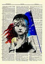 Les Misérables Cosette Vintage Dictionary Art Print Book Picture Poster Play