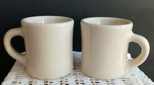 NOS Victor Restaurant Coffee Mugs Cups Insulator Ware Set of 2