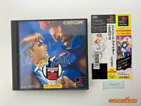 STREET FIGHTER ZERO 2 + Spine Card PS1 Sony Playstation JAPAN Ref:314471
