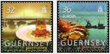 Timbres Europa CEPT Gastronomie Guernesey 1054/5 ** année 2005 (39173Y)