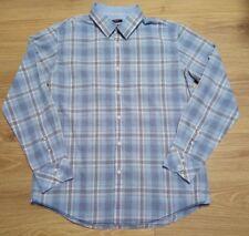 Esprit blue Checks Cotton Casual Shirt slim fit UK18