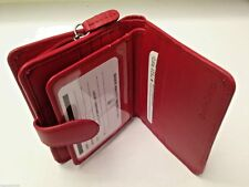 iLi Womens Small Leather RFID Wallet with Tab Closure and Zippered Pocket 7822