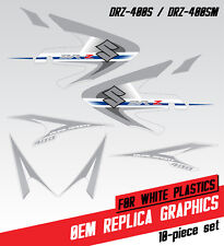 DRZ 400S 400SM OEM style replica graphic kit for white plastic