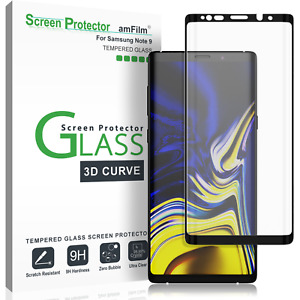 Samsung Galaxy Note 9 amFilm Full Cover Tempered Glass Screen Protector (Black)
