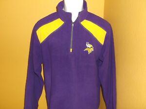 Minnesota Vikings Football 1/4 Zip Pullover nwt Adult Small Free Ship
