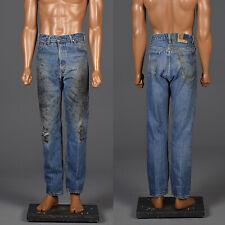 36x32 1970s Mens Distressed Denim Levi's Workwear Jeans Menswear 70s VTG