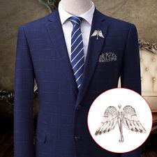 Fashion Crystal Angel Wings Men Women Badge Pin Brooches Lapel Medal DecoratioQA