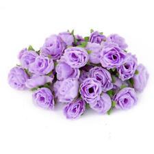 50pcs Fleurs Artificielles Rose Tête Soie Decoration Maison Mariage Violet