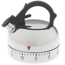 60 Minute Kitchen Timer Alarm Mechanical Teapot Shaped Timer Clock Counting BI