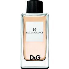 D&G 14 LA TEMPERANCE DOLCE & GABBANA EAU DE TOILETTE FEMME 100ml NEUF