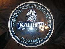 """Htf Guinness Beer Kaliber Painted 18"""" Glass Round Window Man Cave Pub Bar Sign"""
