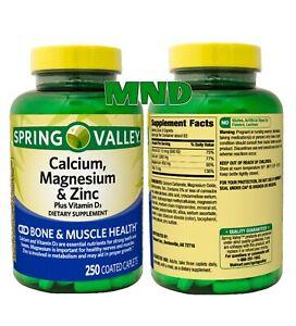 Spring Valley Calcium Magnesium & Zinc Vitamin D3 Bone & Muscle Health Vitamins