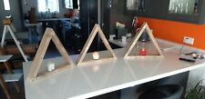 "Chunky Floating Shelves Wooden Rustic Triangle Shelves ""pallet"" Timber Reclaimed"