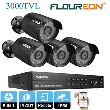 KIT vidéo surveillance CCTV DVR Enregistreur 1080N 8CH +3000TVL Caméras LED NUIT