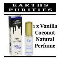 Earths Purities Perfume Natural Vanilla/Coconut alcohol free cruelty free 8ml