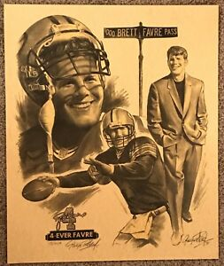 Limited Ed. 20x24 Brett Favre 1998 George Pollard 4-Ever Print 78/499 - Packers