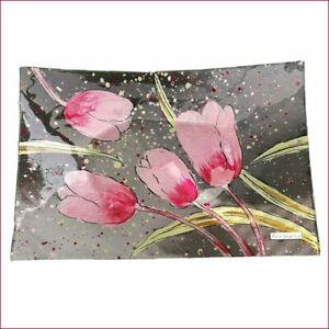 Deko-Teller 30cm Pink-Tulip Tulpen Blumen Obstschale Kerzenteller 871190 formano