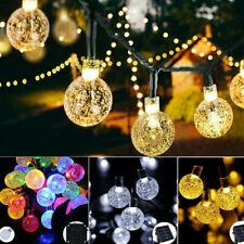5-11m LED Solar Lichterkette Kugeln Innen Außen Garten Party Licht Deko Warmweiß