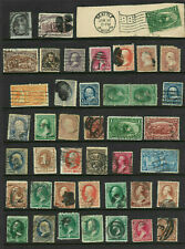 19th Century #65 73 E4 216 222 Few Nice Fancy Cancels 1-15 Cent Collection US A5