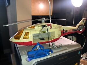 LARGE VINTAGE 1994 TONKA 911 RESCUE HELICOPTER NO. 5 CHOPPER LIFE FLIGHT SOUND