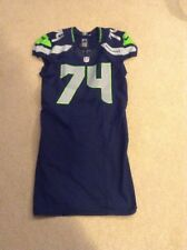 Seattle Seahawks Julius Warmsley Game Used Team Issued Blue Home Jersey 2015