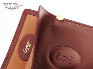 CARTIER Must Glasses Case Leather Case For Glasses Sunglasses Case Pouch