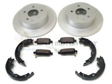 FOR NISSAN JUKE 1.5 DCi + 1.6 REAR 2 BRAKE DISCS AND PADS & HANDBRAKE SHOES SET