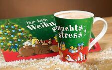 GILDE TASSE Nur kein Weihnachtsstress - 45210 - Höhe ca. 10,5 cm