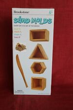 Brookstone Wooden Sand Molds 5 Pieces New