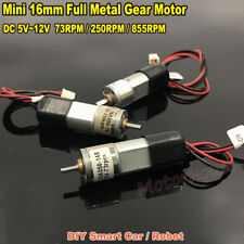 Metal Gearbox Mini Micro16mm Gear Motor DC 5V~12V 6V 9V Slow Speed Large Torque