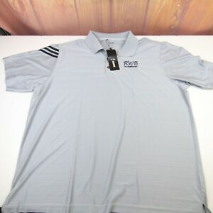 Adidas Men's Size 3XL Polo Shirt Grey Golf ClimaCool Clima Athletic S/S Logo