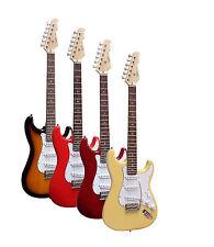 E-gitarre Msa-st5 schwarz Massivholzkörper Top Auswahl mit Anschlußkabel N