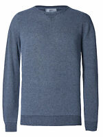 Mens M&S Denim Textured Pure Cotton Crew Neck Jumper LS size Small rrp£29 New
