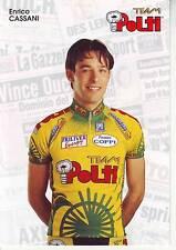 CYCLISME carte cycliste ENRICO CASSANI équipe TEAM POLTI 1997