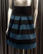 GIRLS FROM SAVOY Anthropologie High Waist Striped Ponte Bell Motif Skirt $128