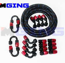 AN8 AN-8 Stainless Steel Nylon Oil Fuel Line Hose 10M Hose End Fitting Kit -8AN