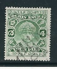 India Cochin Stamp- Scott # 56/A9-4p-Canc/LH-1941-NG