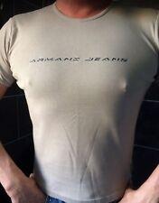 Armani Jeans beige logo T-shirt size L